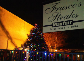 Mayfair will once again hold its annual tree lighting ceremony along Frankford Avenue next to Frusco's. NEast Philly File Photo/Dec. 2010