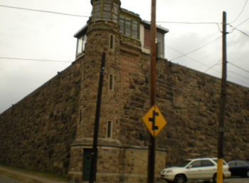 Holmesburg Prison, as seen from Torresdale Avenue. Photo/Christopher Wink