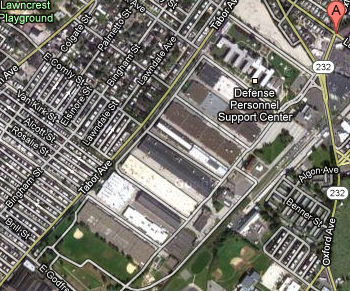 An evacuation drill has been scheduled at the U.S. Navy Depot for the week of March 19. Image/Google Maps