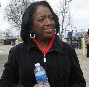 Philadelphia Councilwoman Marian Tasco, seen here at the 2011 Rising Sun Avenue Clean-up, announced City Council will hold a public budget hearing in Lawncrest. File photo/Ian Romano