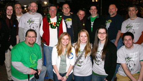 Team Ryan before the St. Baldrick's shave. Photo courtesy of Archbishop Ryan High School