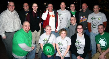 Team Ryan after the St. Baldrick's shave. Photo courtesy of Archbishop Ryan High School