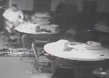 Surveillance footage shows a theft in the basement at SmokeEaters Pub. Image/Philadelphia Police
