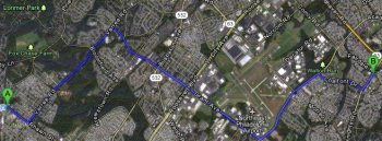 Fox Chase School (A) and the Arts Academy at Rush (B) will get more seats in September. Image/Google Maps