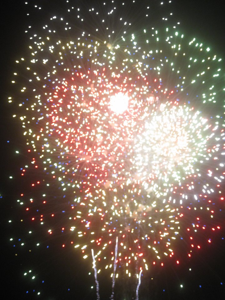Fireworks from the 2010 July Fourth celebration in Lawncrest. Photo/Shannon McDonald