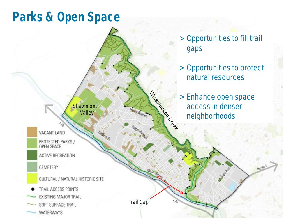 Parks and open space in the Lower Northwest District. Courtesy PCPC