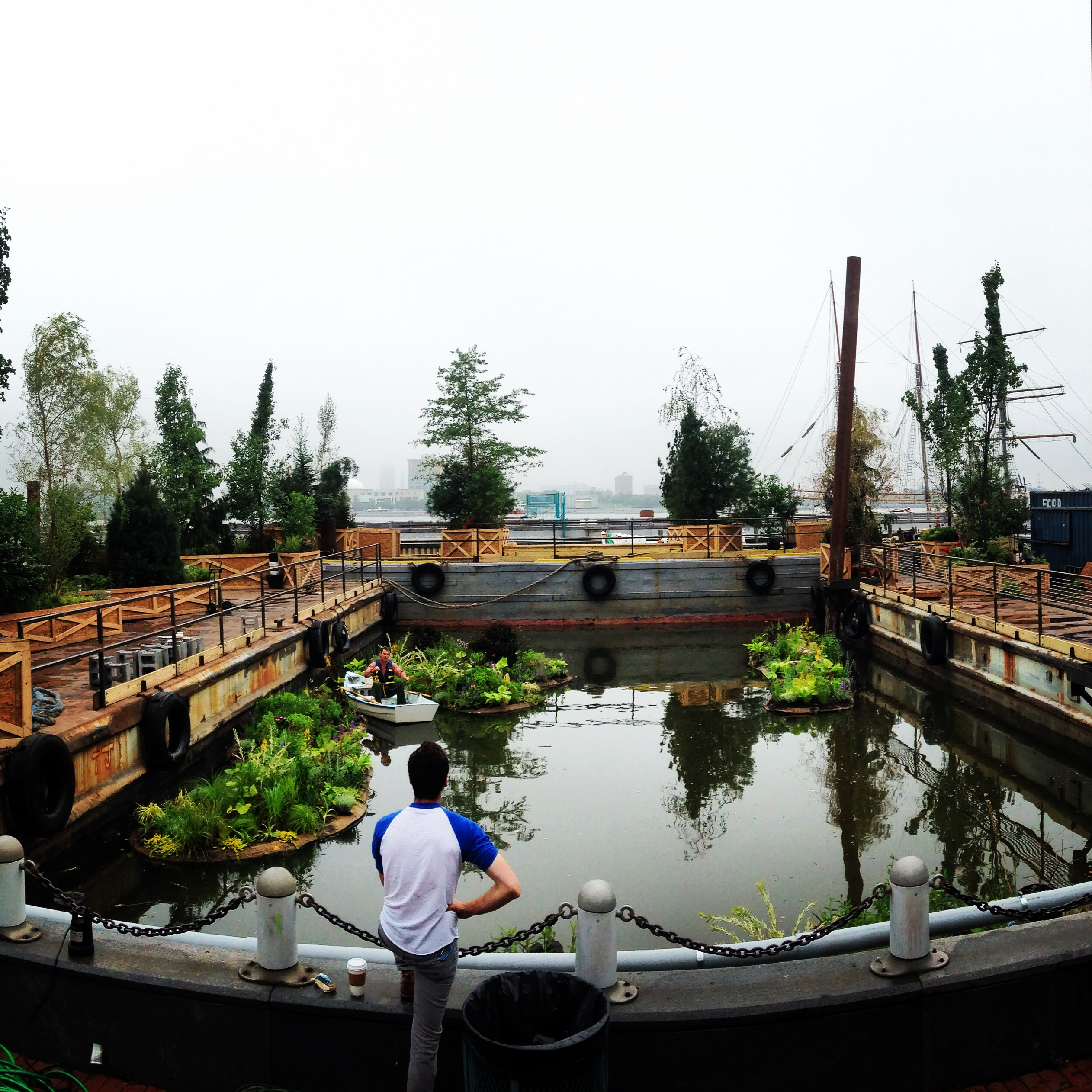 Spruce Street Harbor Park oasis being built | June 12, 2014