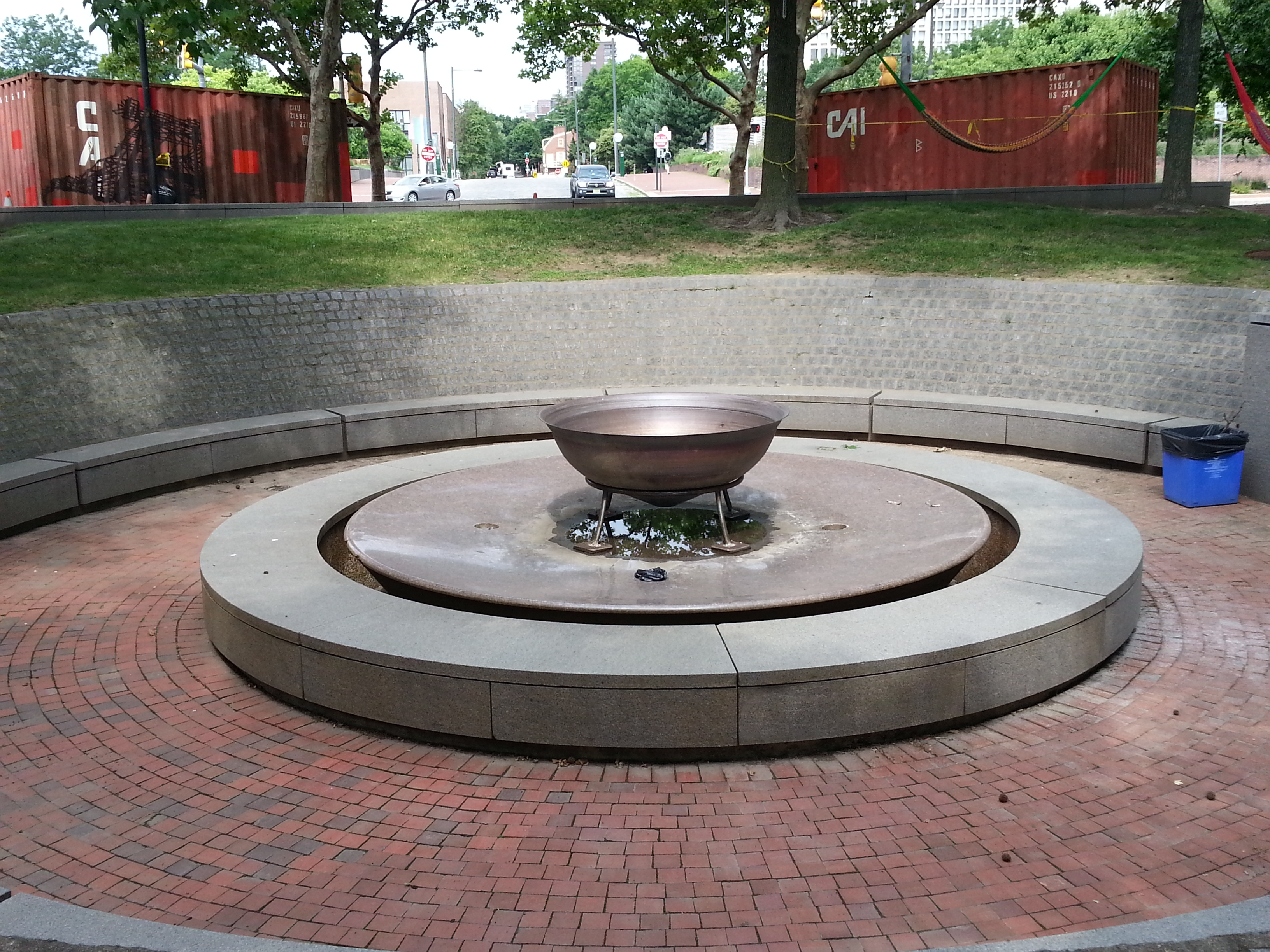 This old sculpture garden fountain will come to life for the first time in 15 years - with a new fire pit inside.