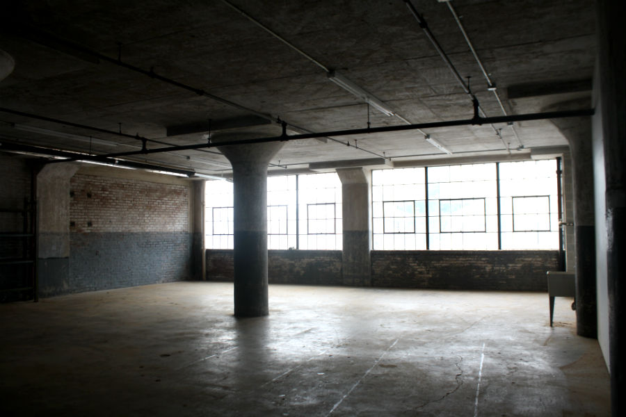 Vacant space at Globe Dye Works