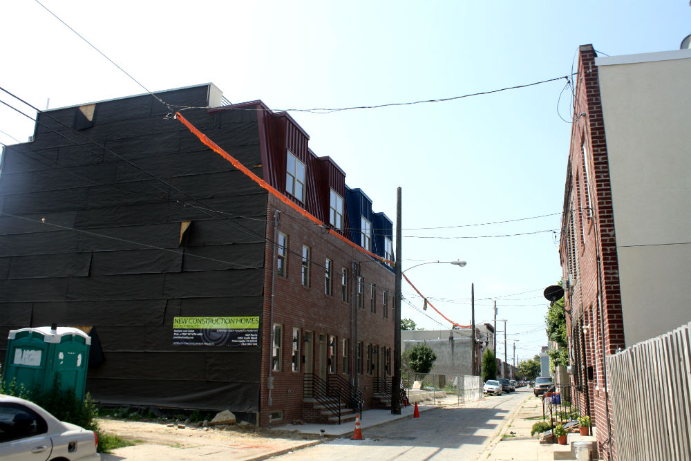 1300 block of S. Chadwick Street - New OCF homes on left