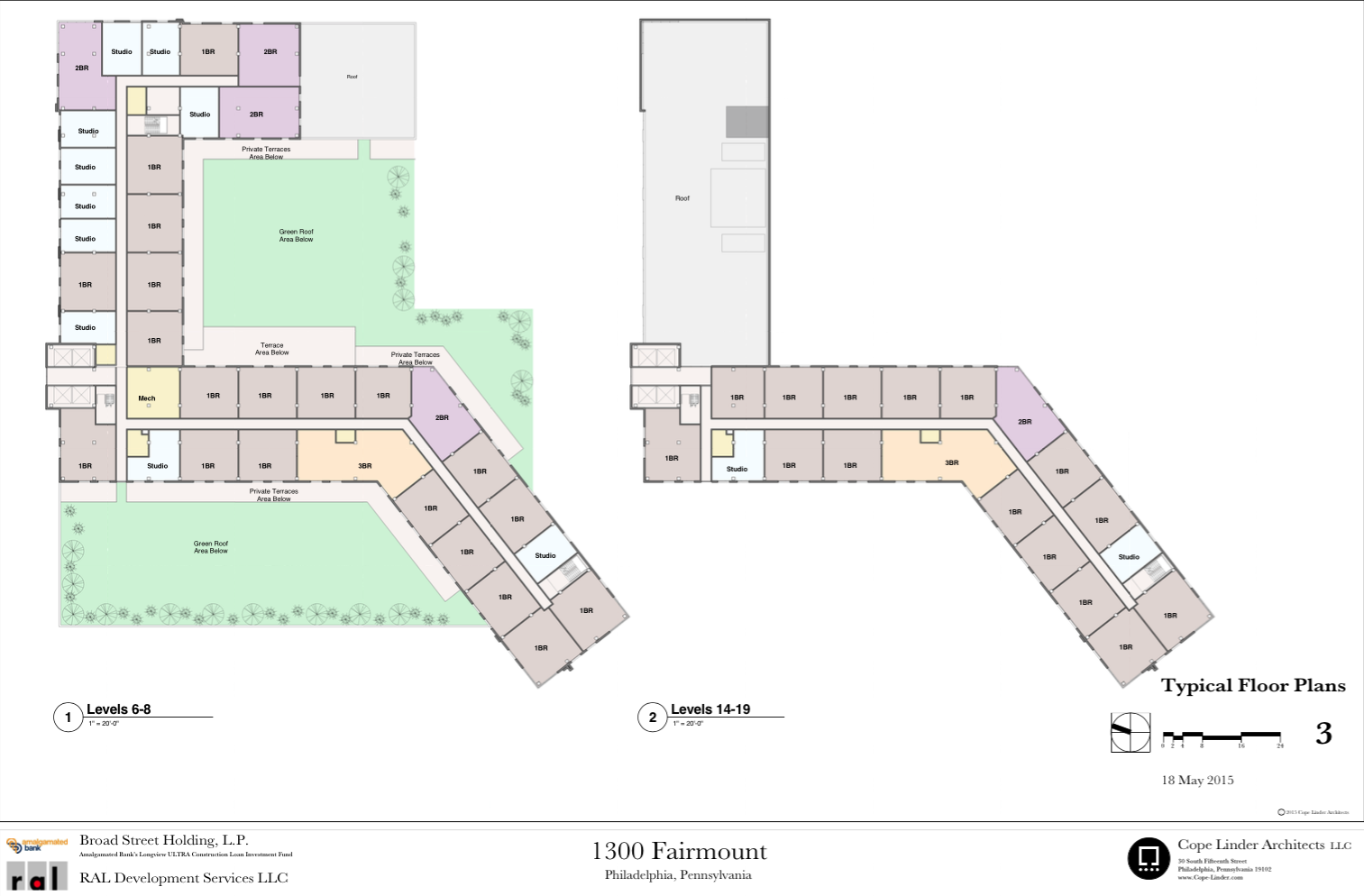 1300 Fairmount Site Plan | Cope Linder Architects