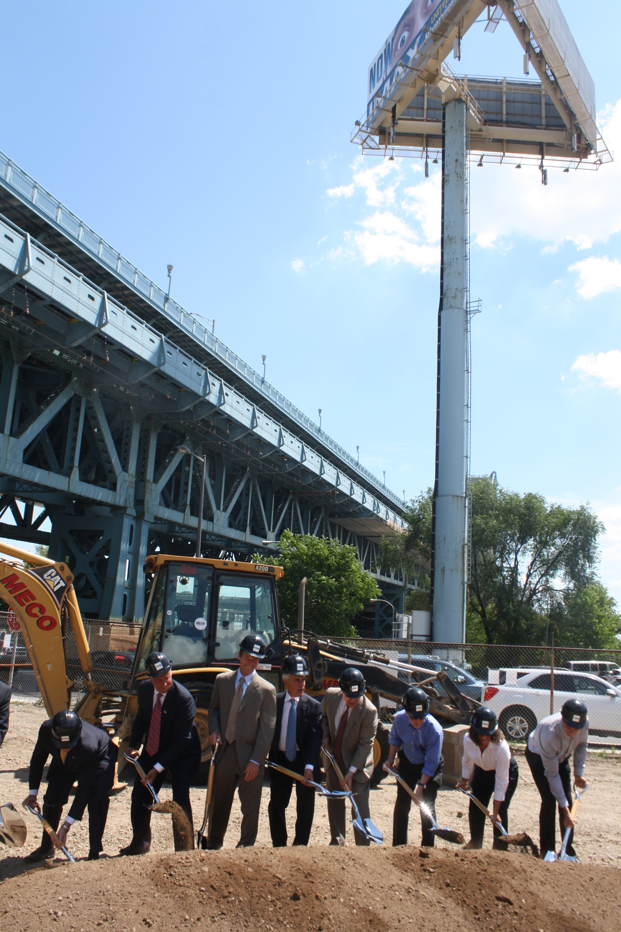 Bridge at 205 Race groundbreaking