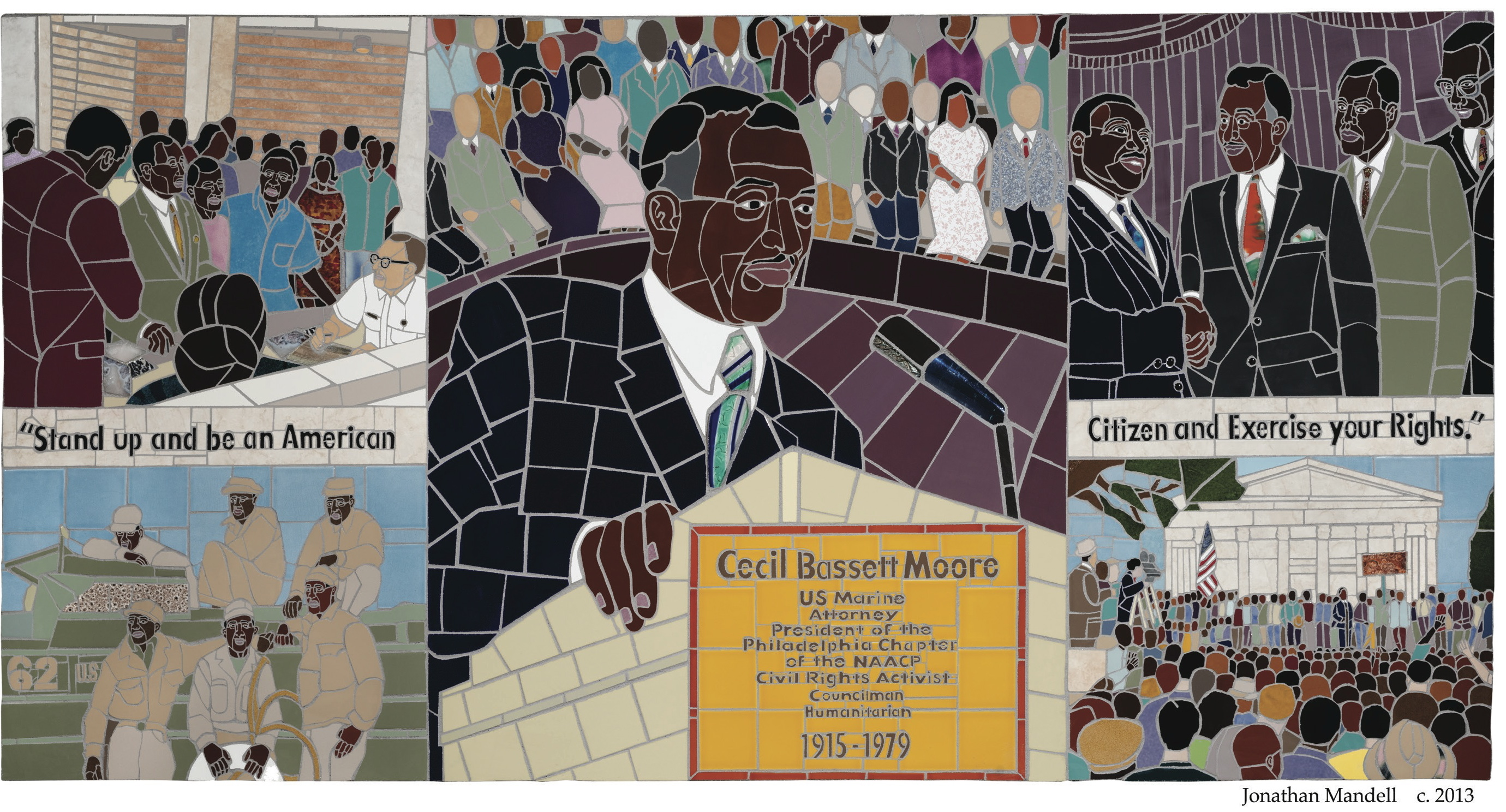 Cecil B. Moore Mosaic, Courtesy of SEPTA and Jonathan Mandell