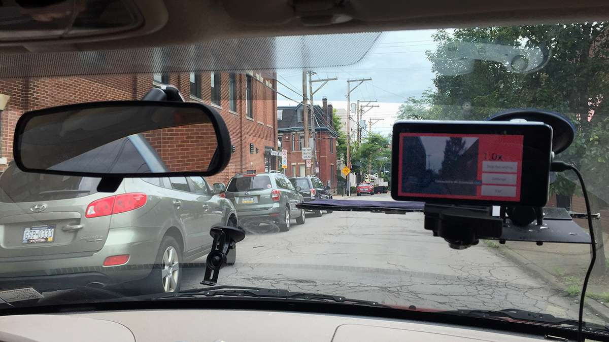 Christoph Mertz drives around Pittsburgh with a smart camera on his windshield.