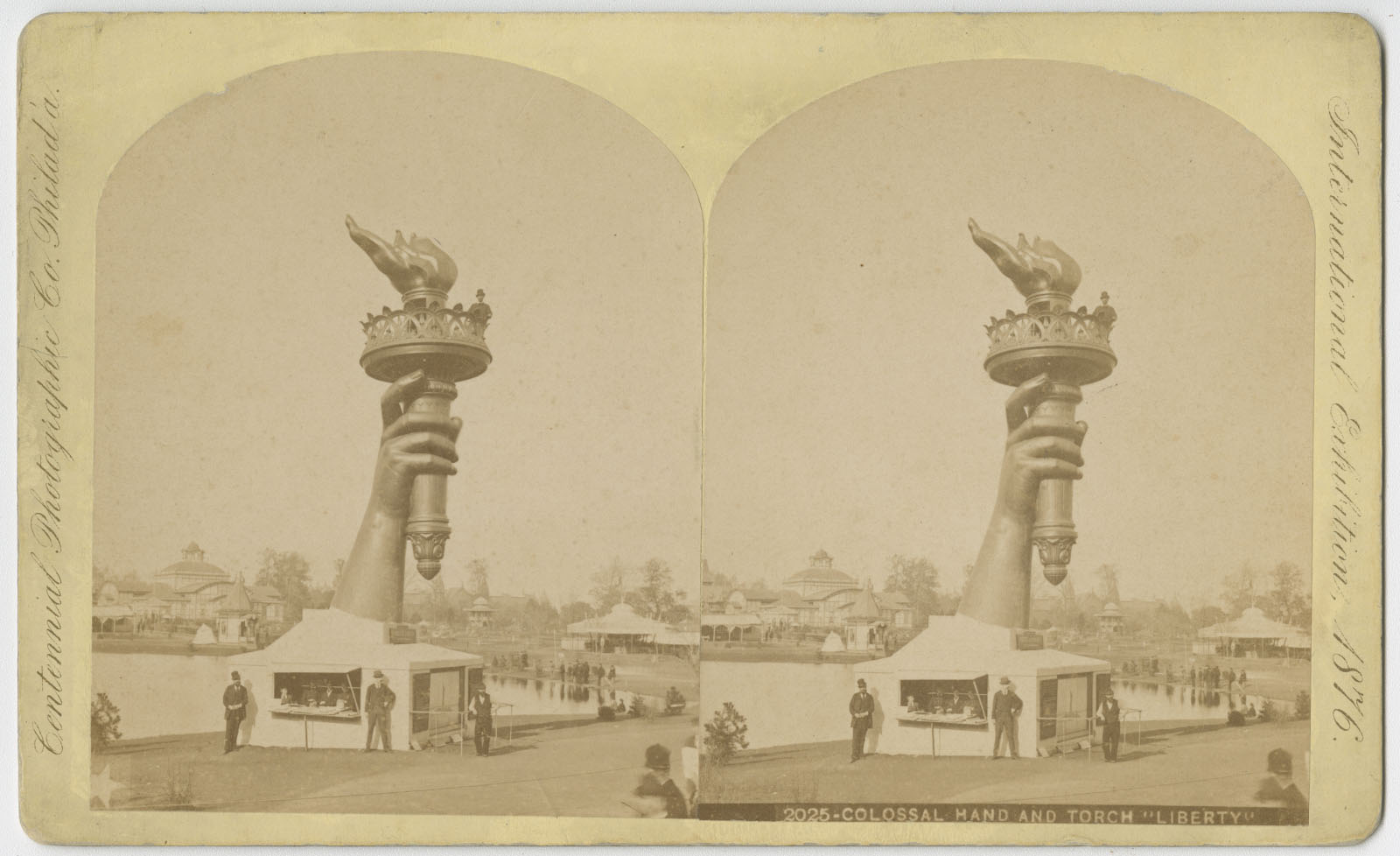 Colossal hand and torch 'Liberty' | Philadelphia: Centennial Photographic Company, 1876. | Library Company of Philadelphia