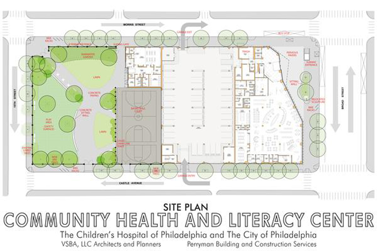 Community Health and Literacy Center Site Plan
