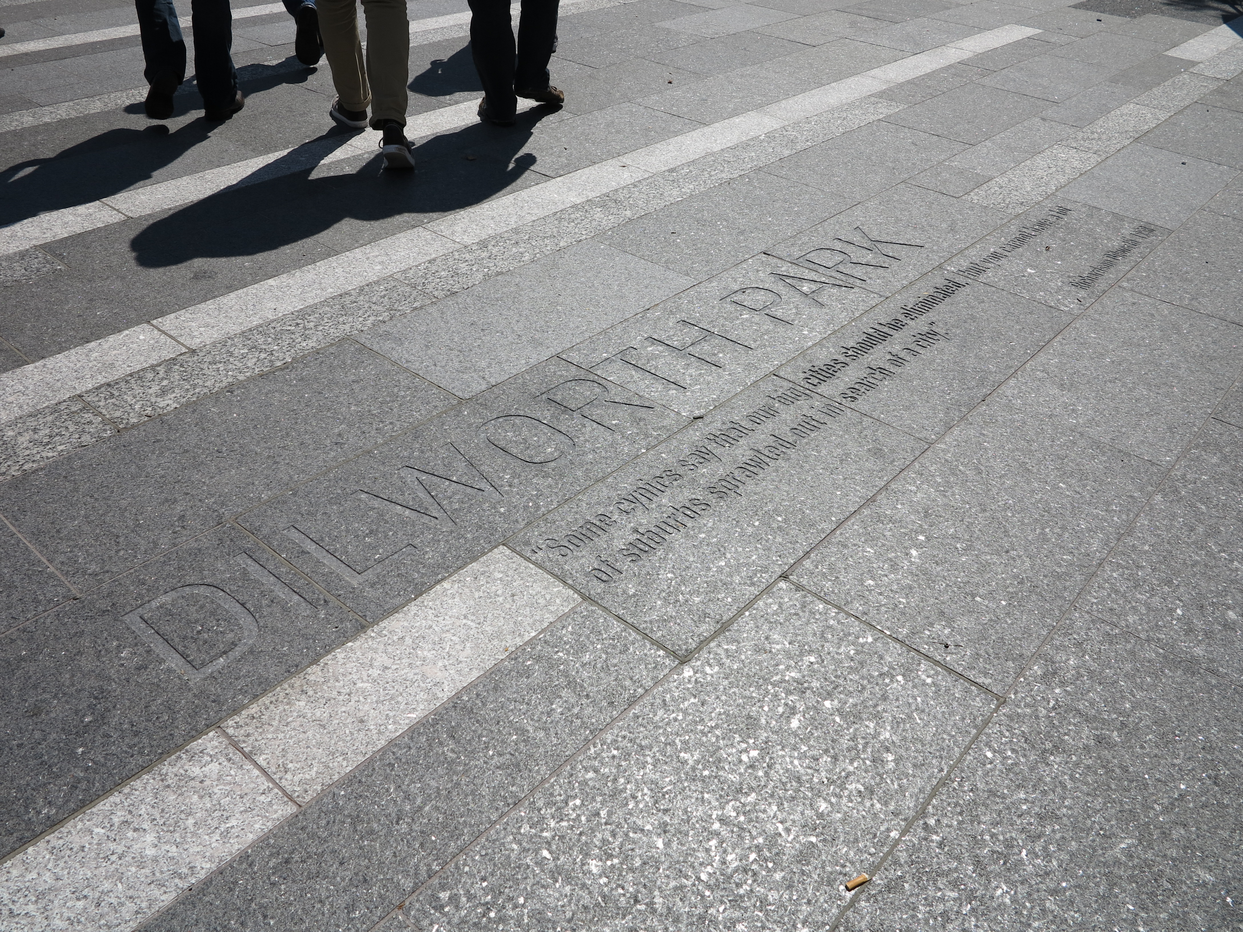 Dilworth Park, etched in stone