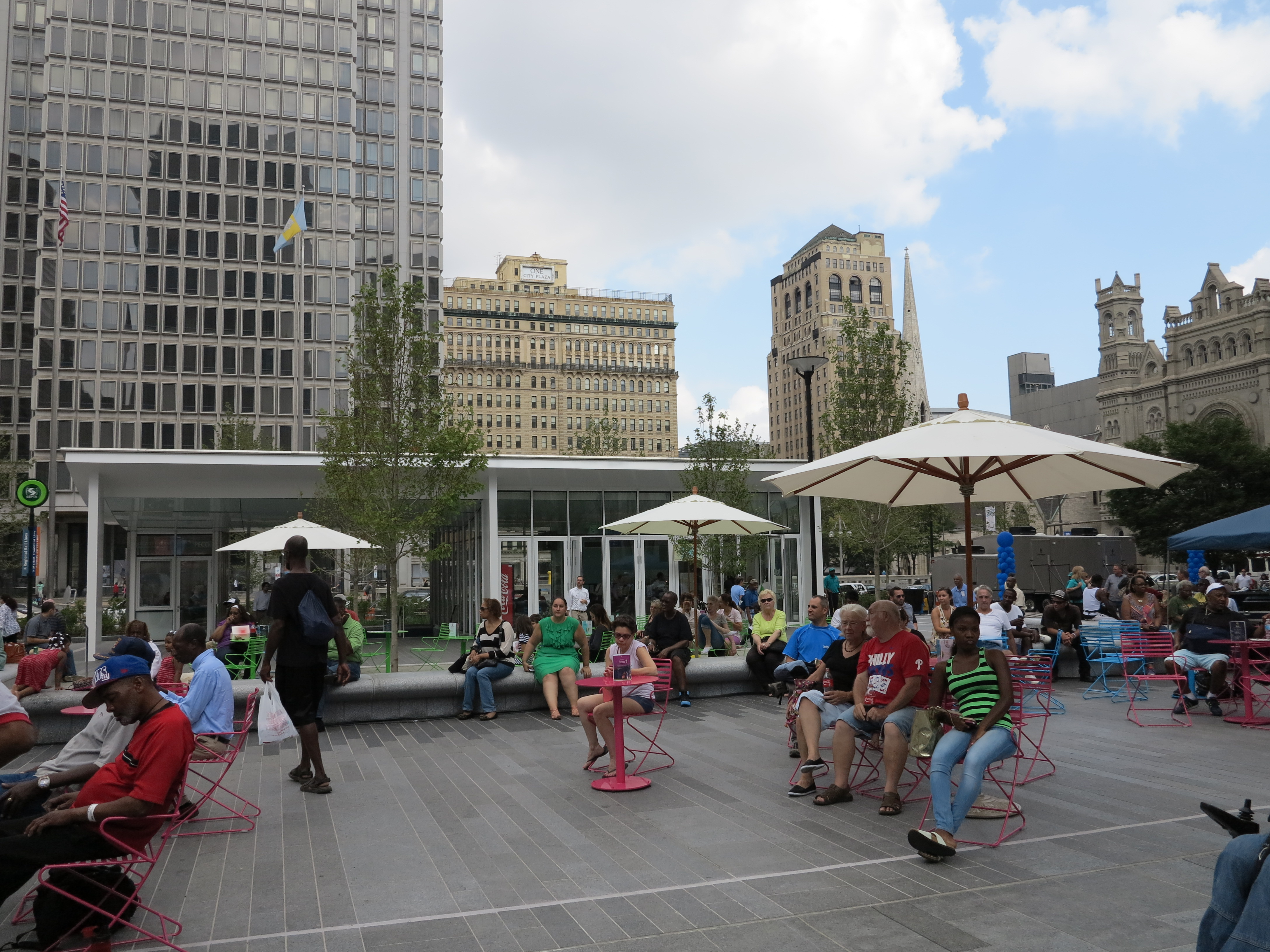 Enjoying a lunchtime concert at Dilworth Park