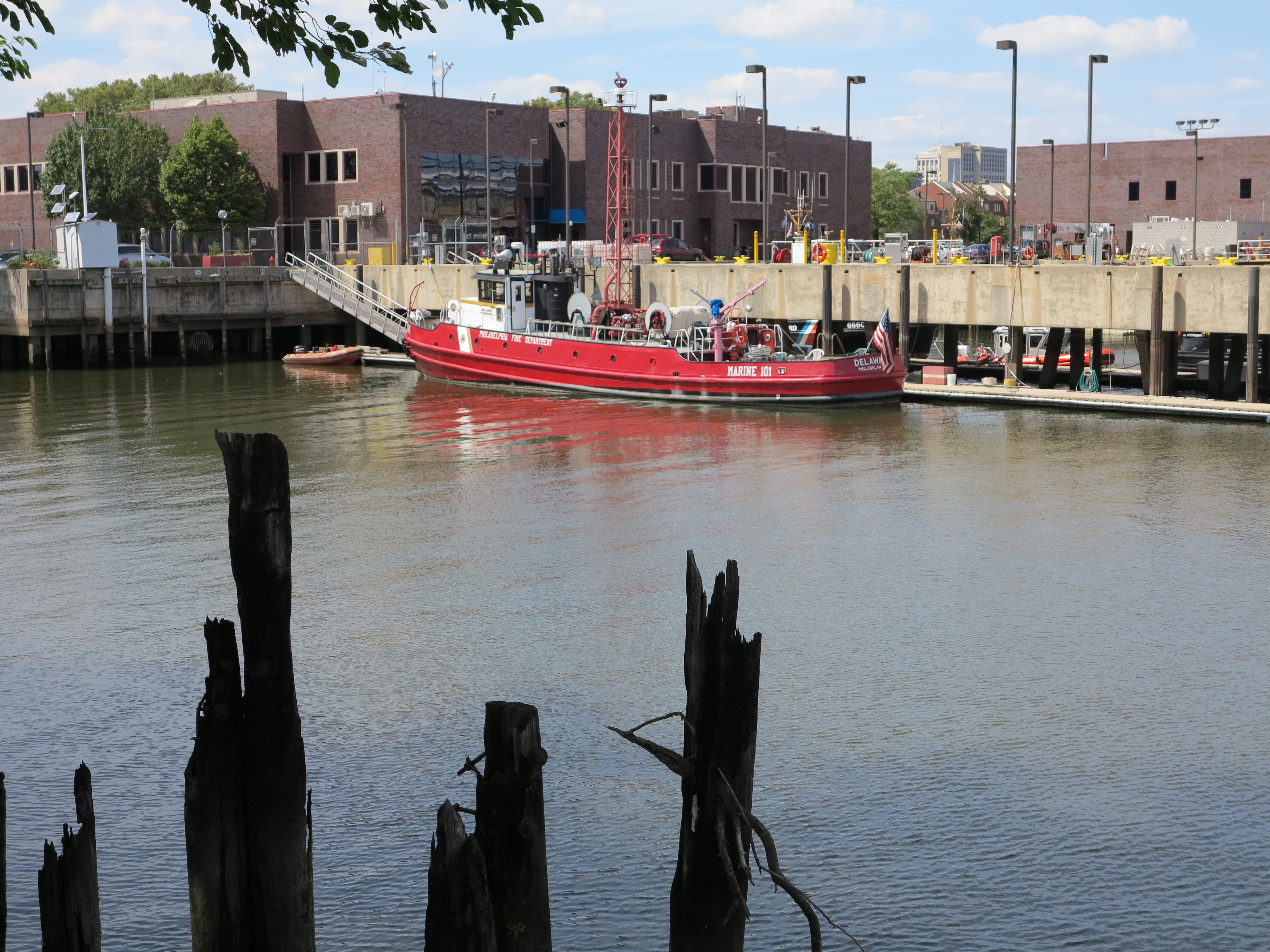Fireboat on display