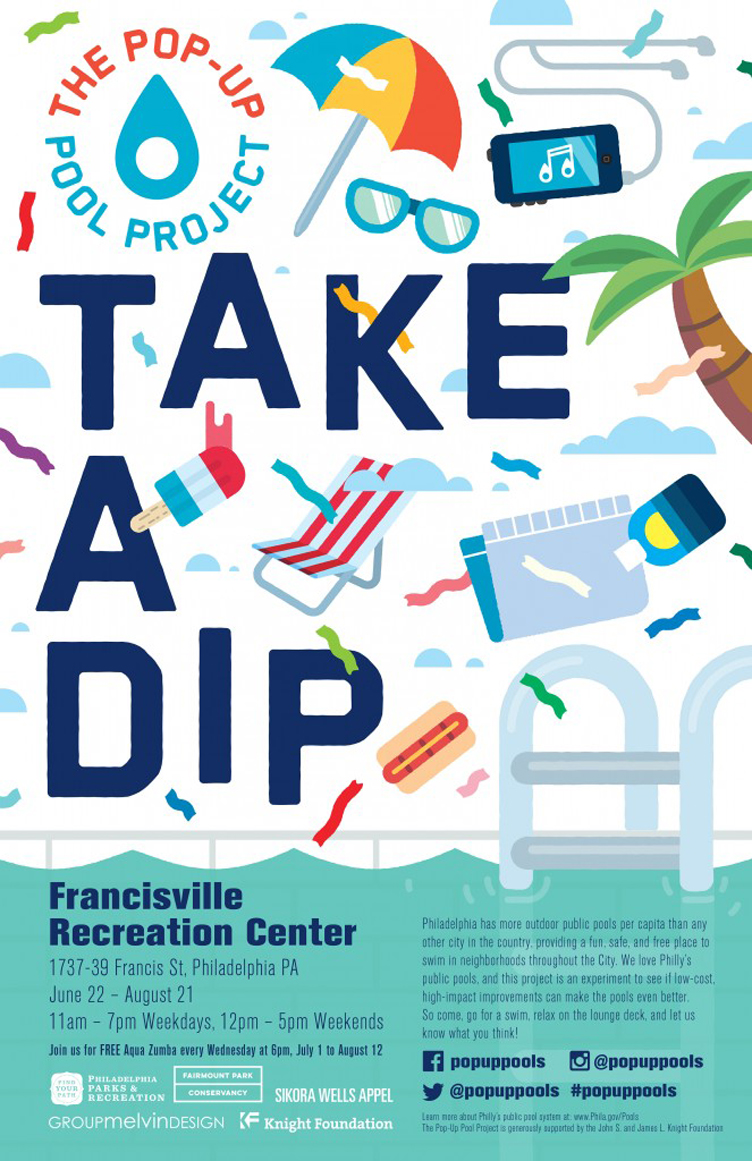 Francisville's Pop-Up Pool Project will be open through August 21, 2015