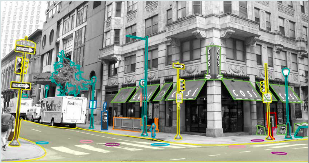 Highlighted streetscape showing responsibility/Courtesy of CCD