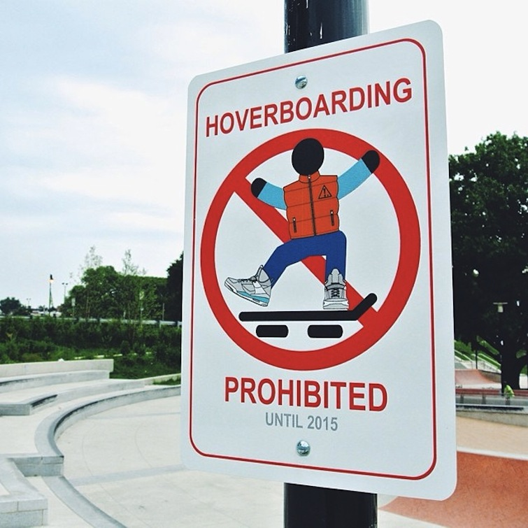 Hoverboarding prohibited