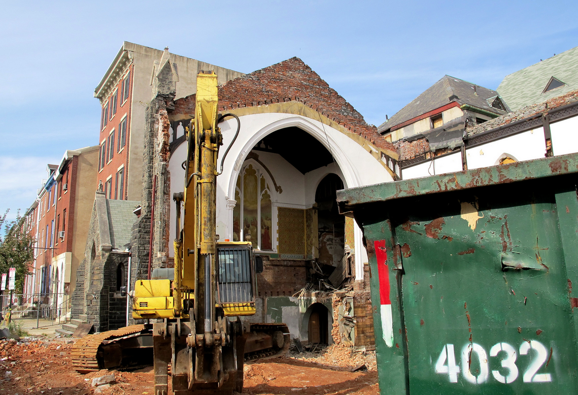 Ruffin Nichols Memorial AME Church Demo underway