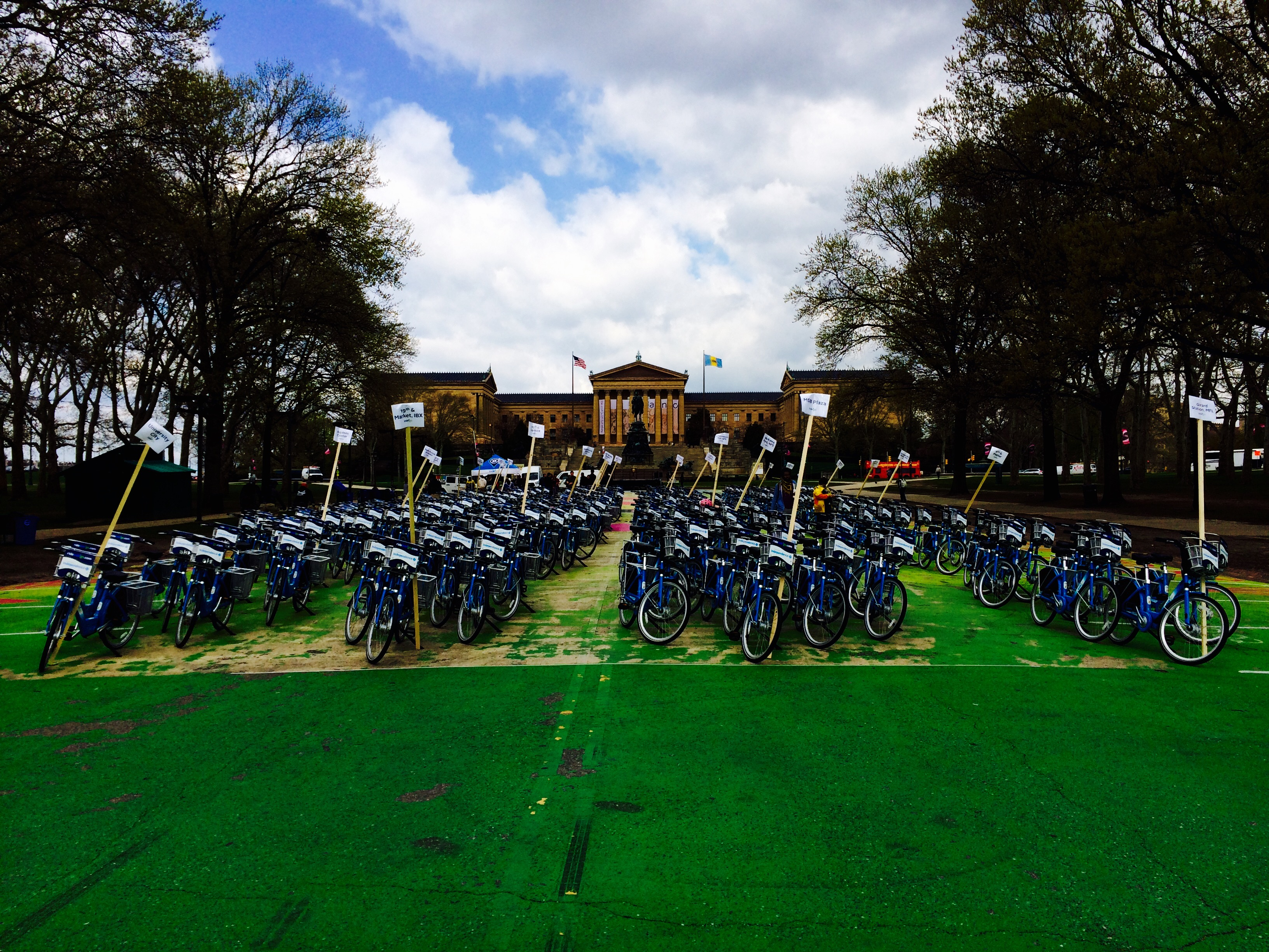Indego Bikes on Eakins Oval