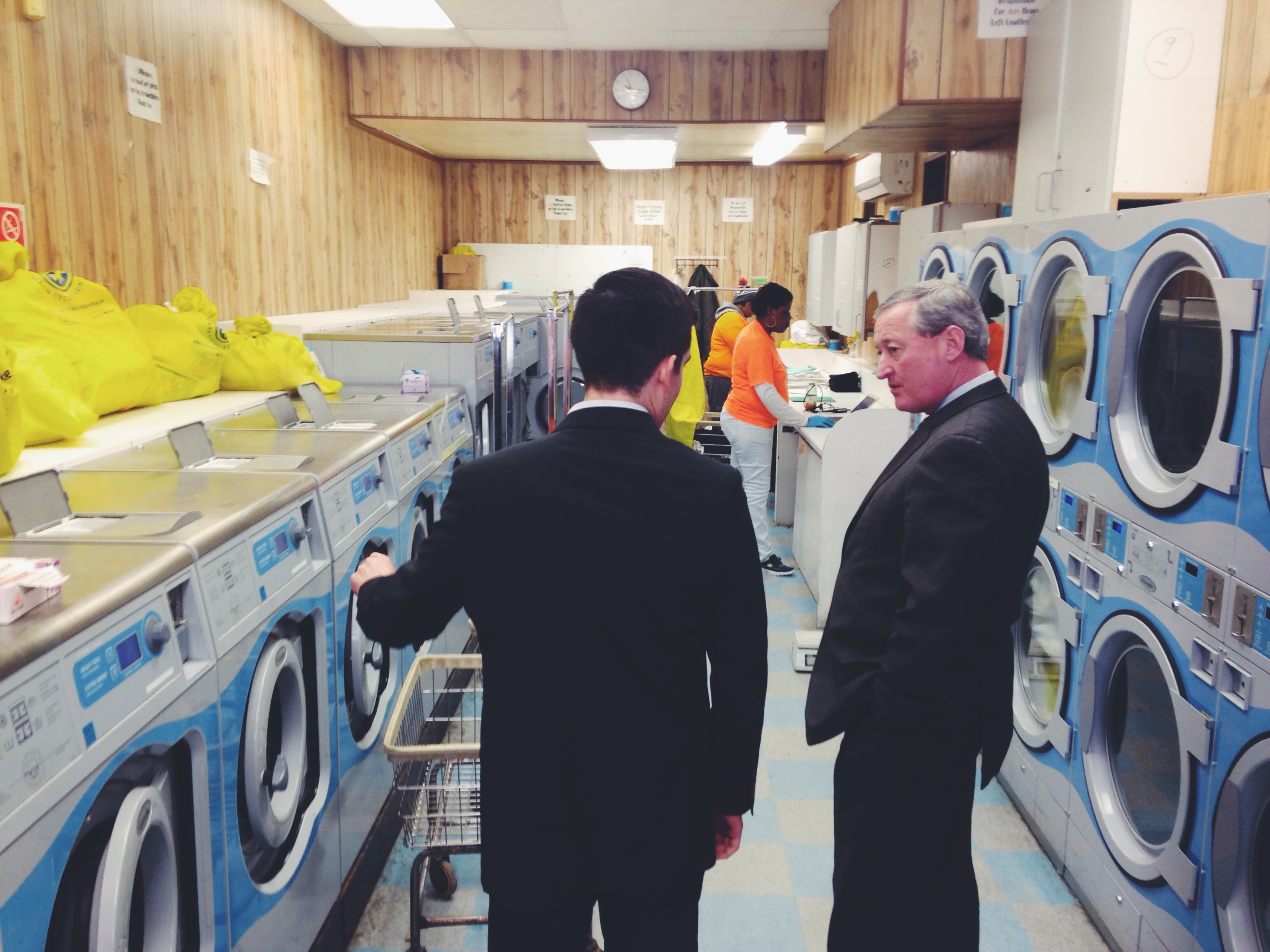 Jim Kenney at Wash Cycle Laundry