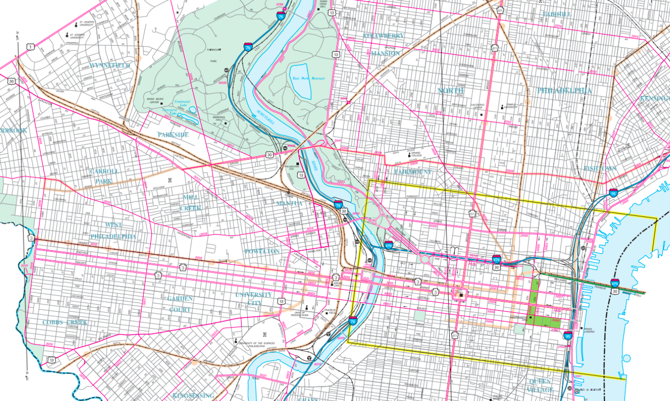 Map of Philadelphia Streets