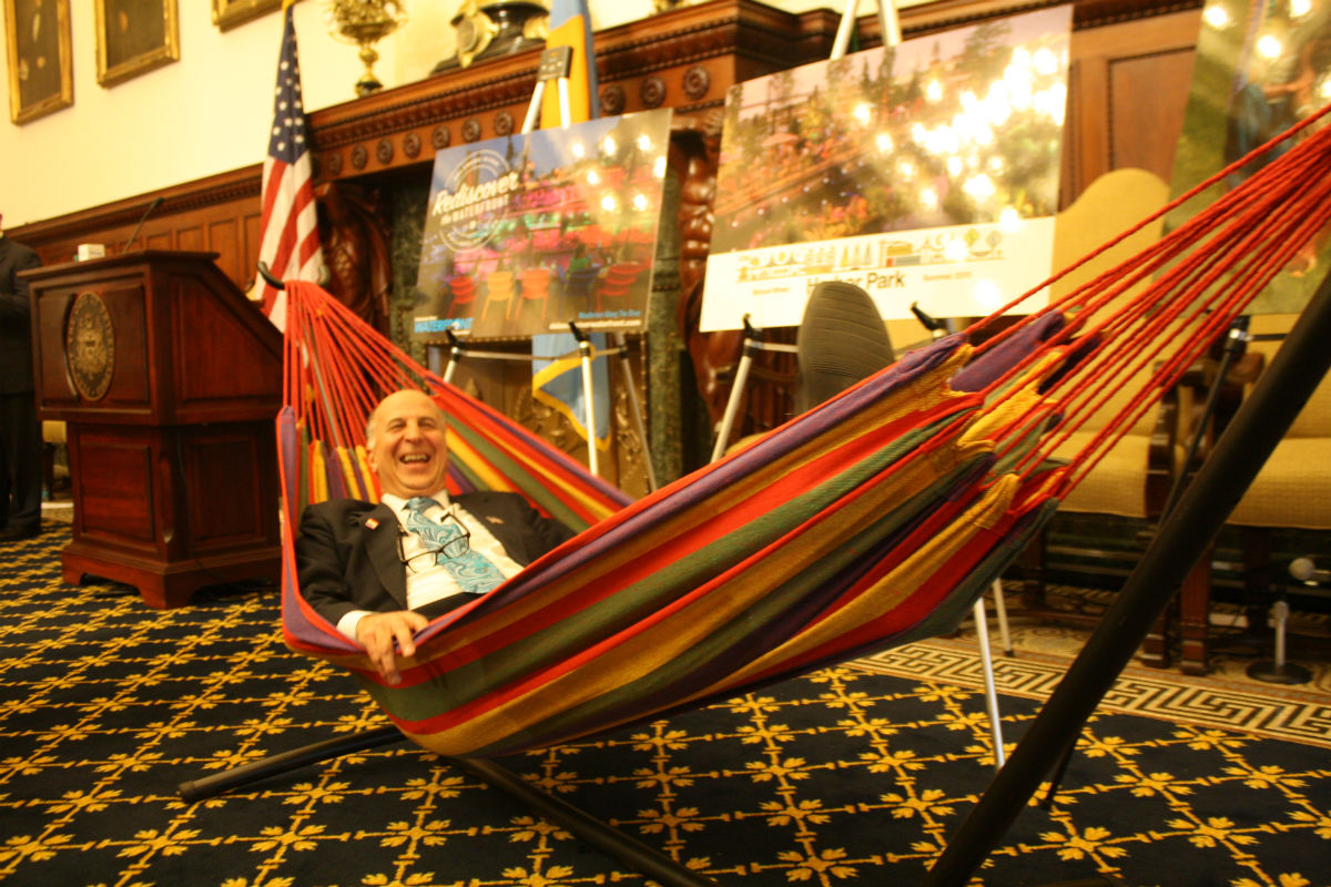 Mark Squilla in a Hammock