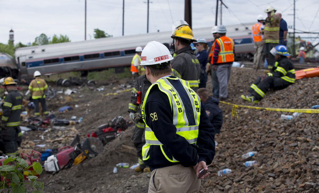 member robert sumwalt on the scene of the amtrak train 188 derailment in philadelphia pa flickr photo sharing