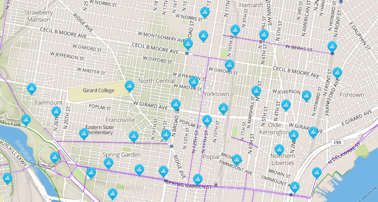 North Philly bike share Phase One