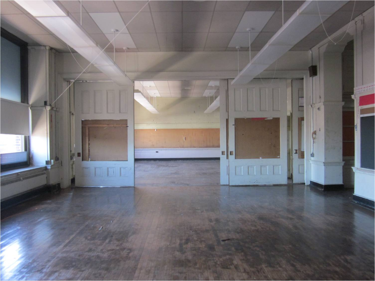 Old Frances Willard School has sliding classroom partitions, offering a flexible layout | courtesy of Community Design Collaborative
