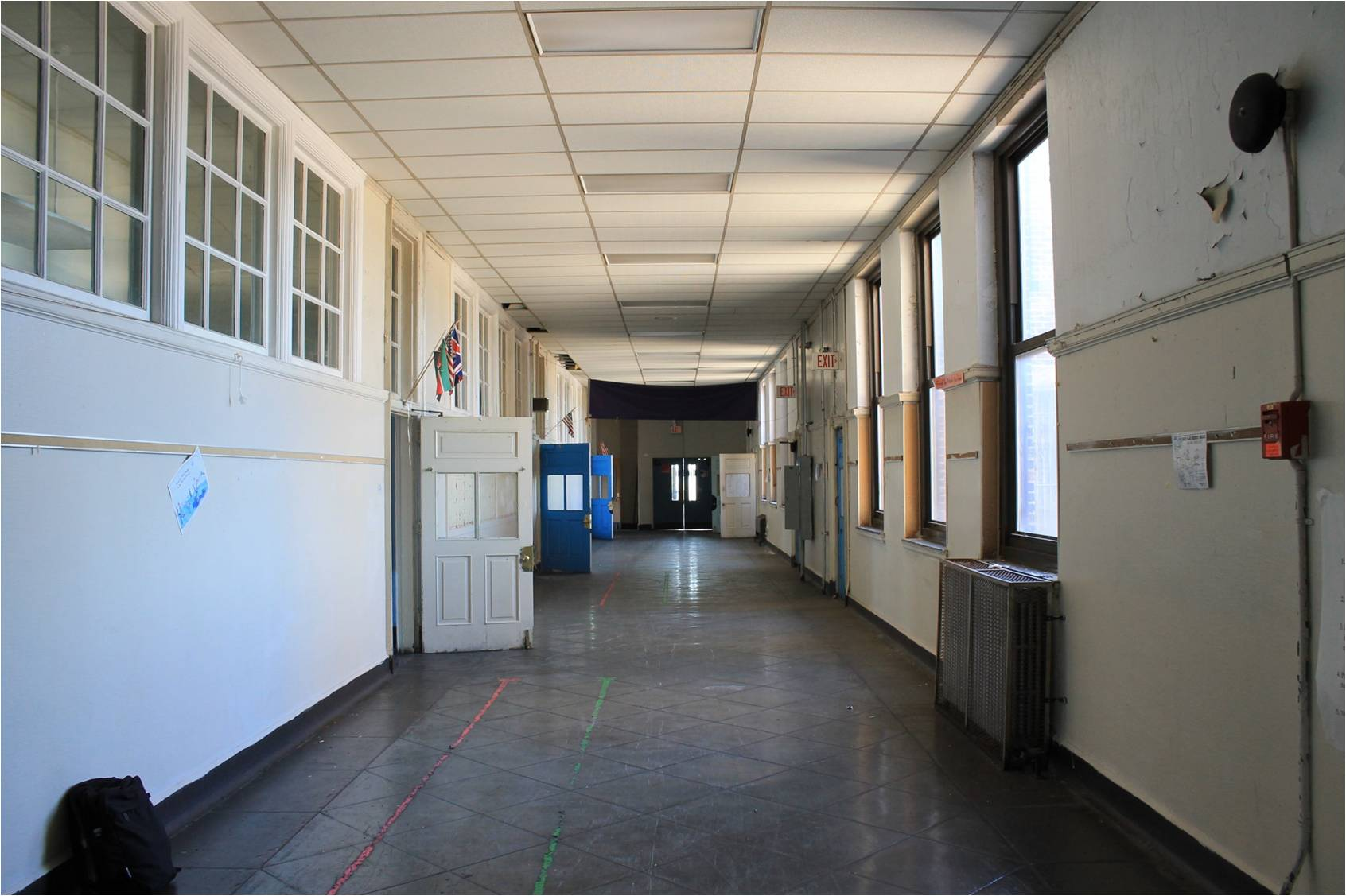 Old Willard's 14-foot wide hallways offer opportunities for stoop space in a residential reuse | courtesy of Community Design Collaborative