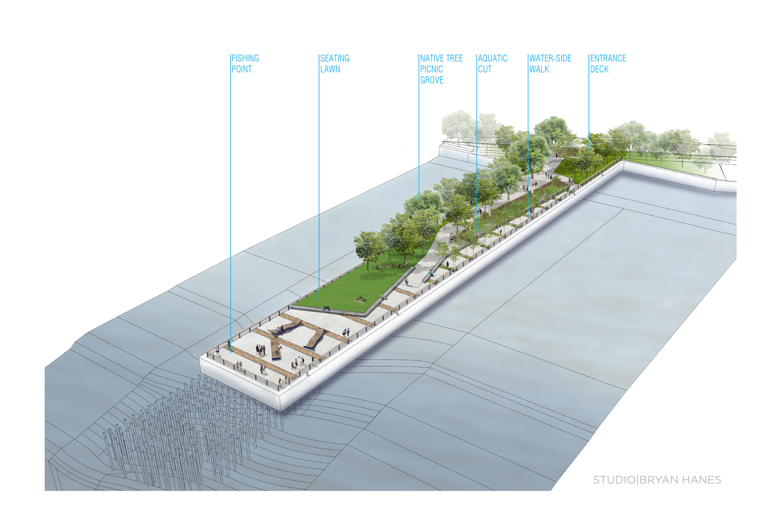 Pier 68 design diagram | Studio Bryan Hanes