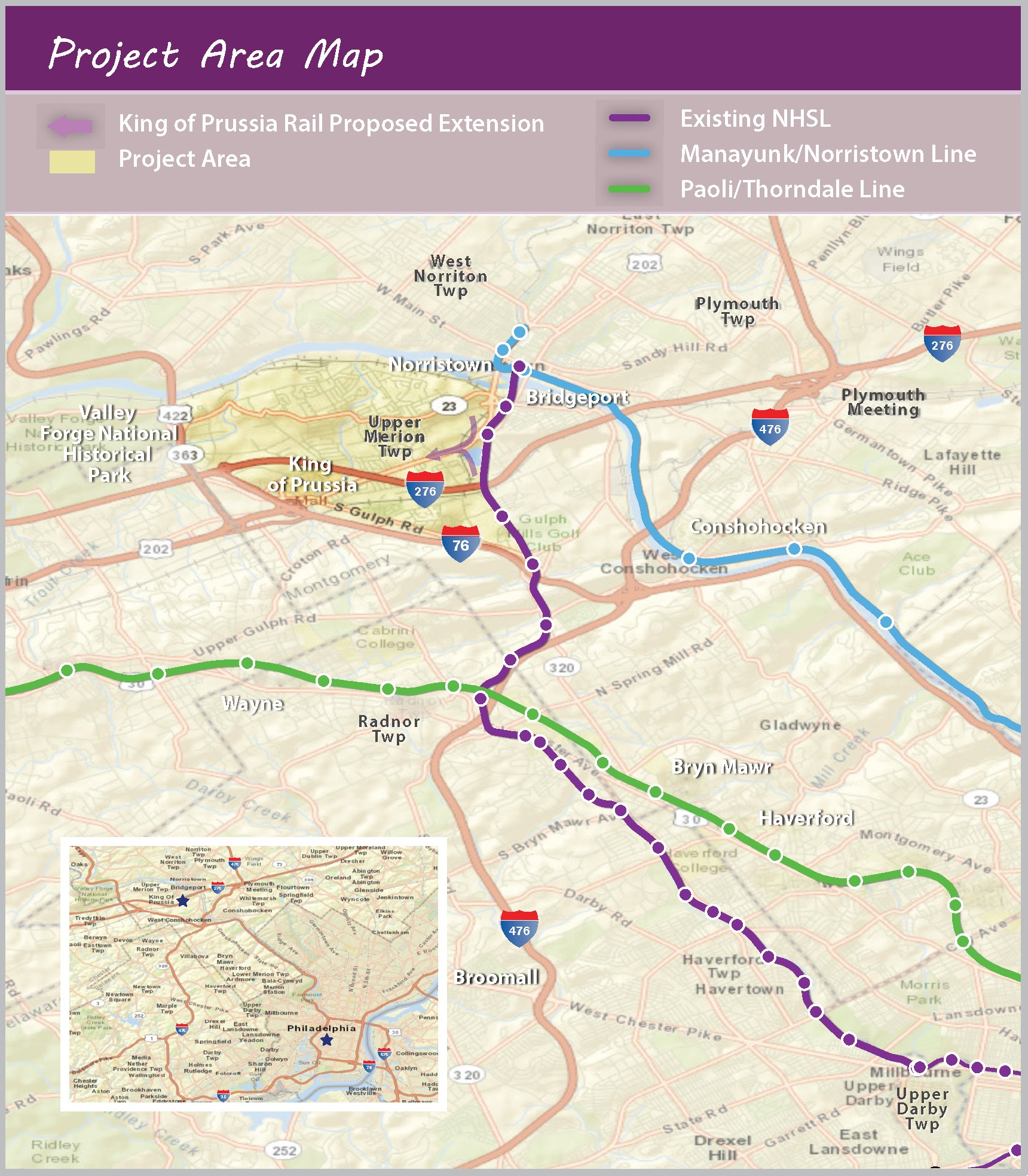 Proposed King of Prussia rail extension