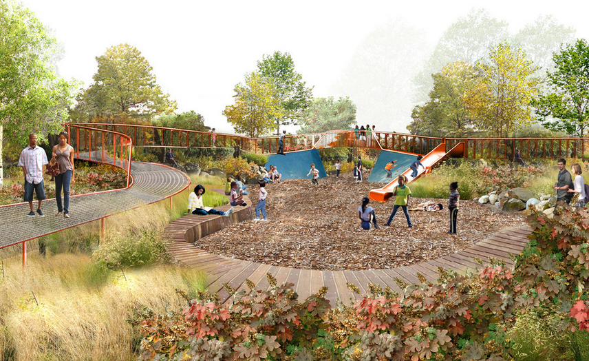 One of Centennial Commons rustic play areas | Studio Bryan Hanes