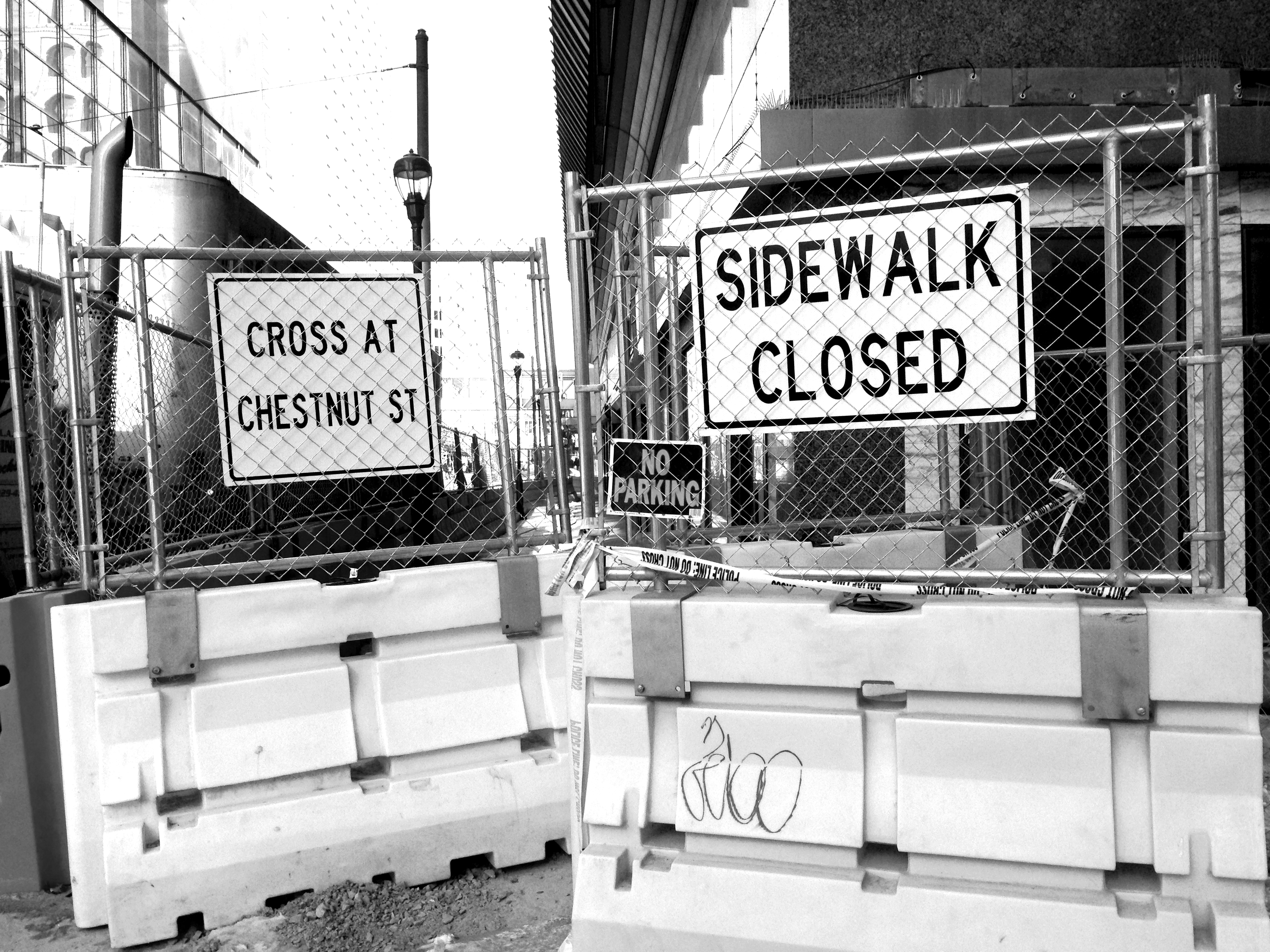 Sidewalk Closed at 12th Street