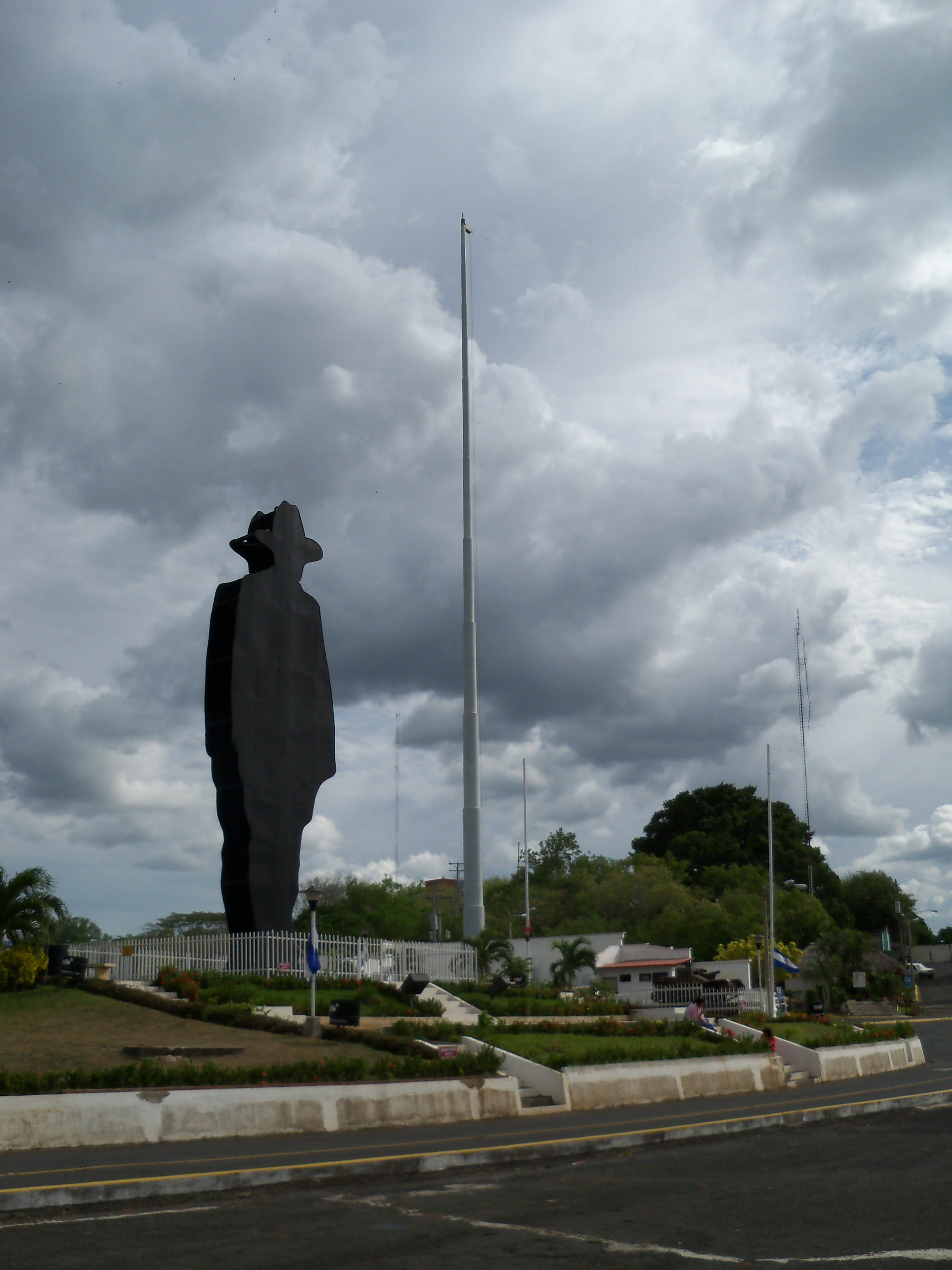 Silhouette of Sandino, Managua - Photo by Brittany Root