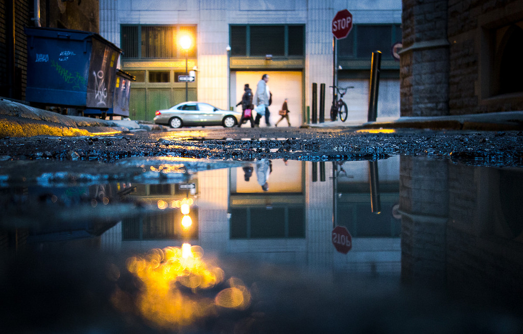 South 13th Street puddle, Photo by Philadelphia Photos