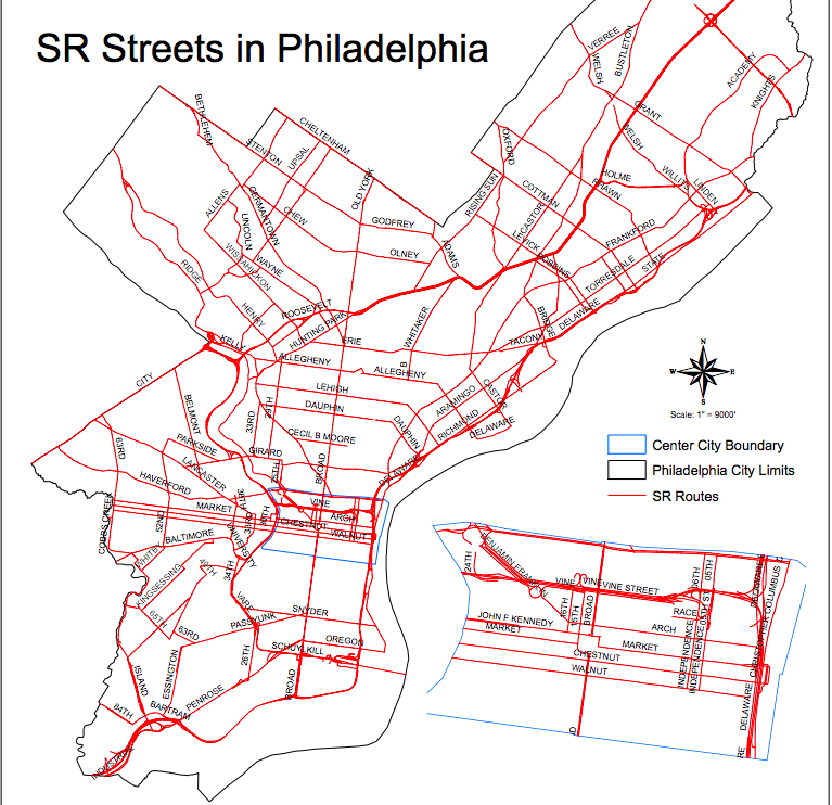 State Routes in Philadelphia