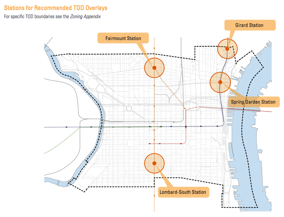 Stations for Recommended TOD Overlays
