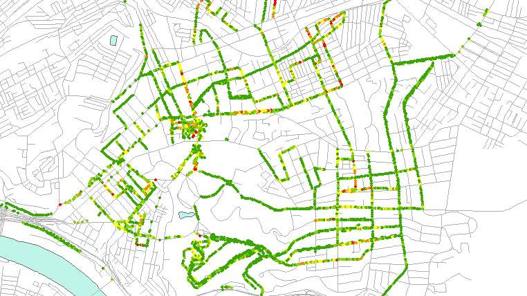 Street inspections: A sample city map (Image courtesy of Christoph Mertz)