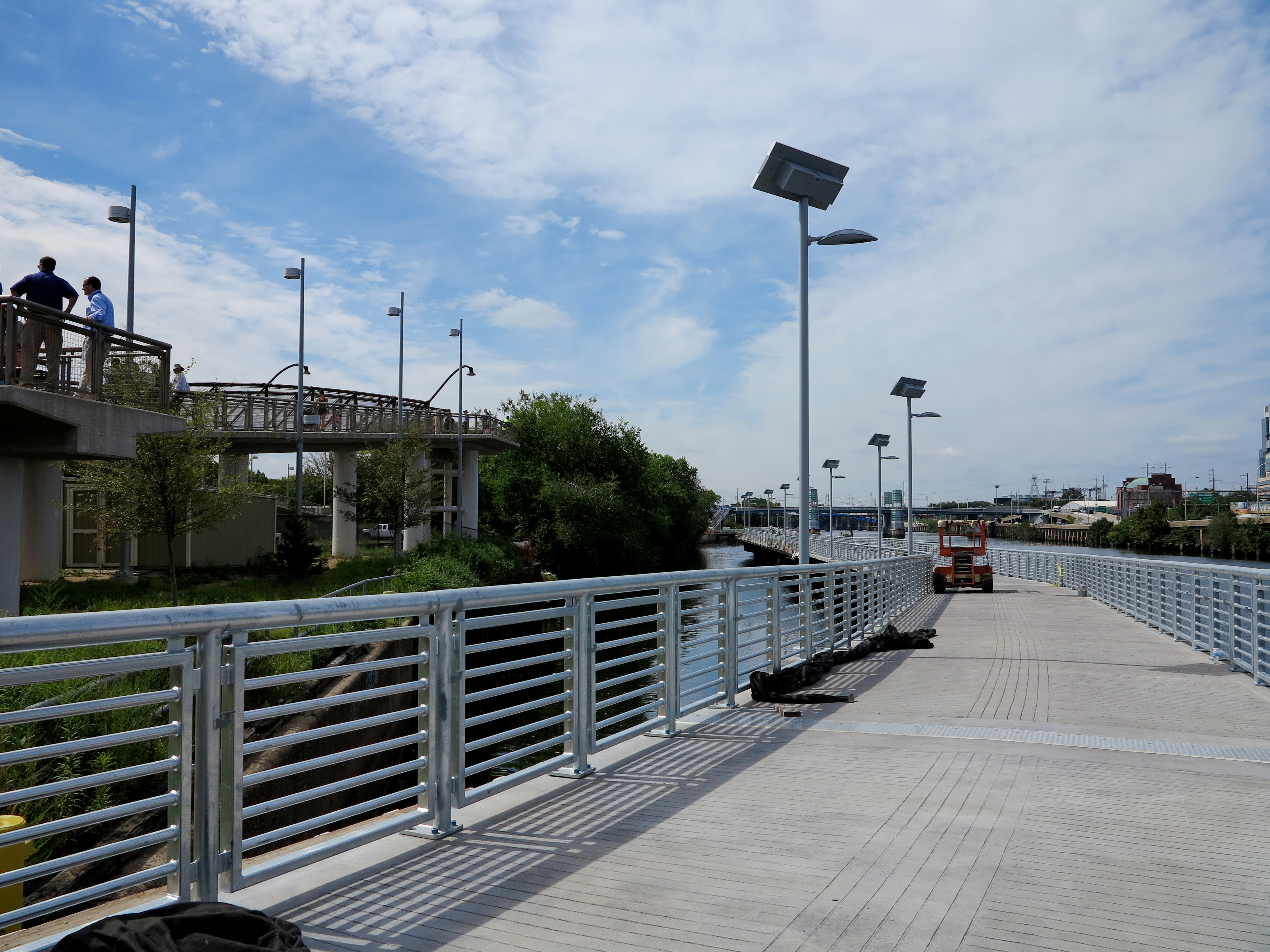 The Connector Bridge runs parallel to and overlooks the new boardwalk
