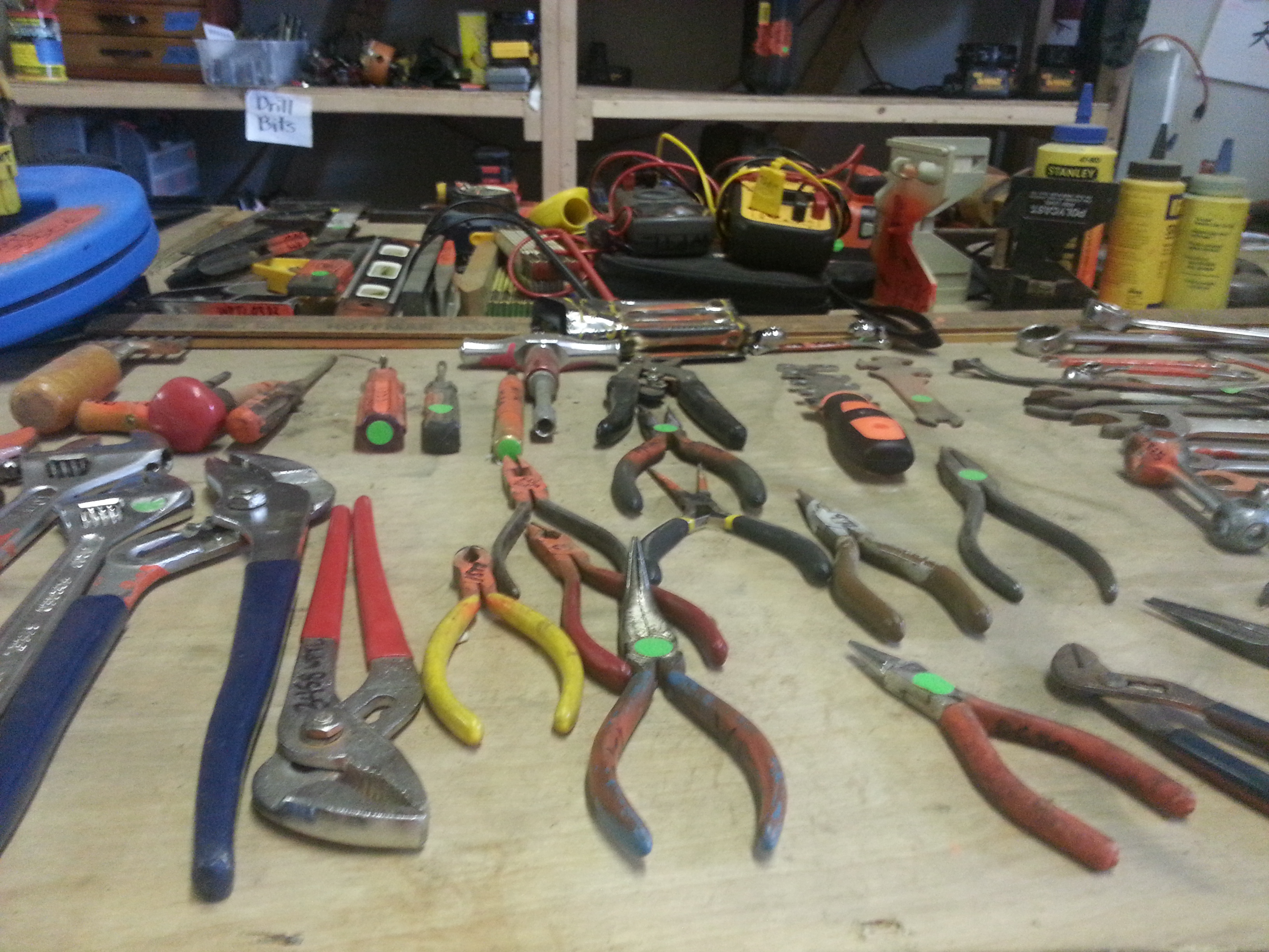 Tool Library pliers and wrenches