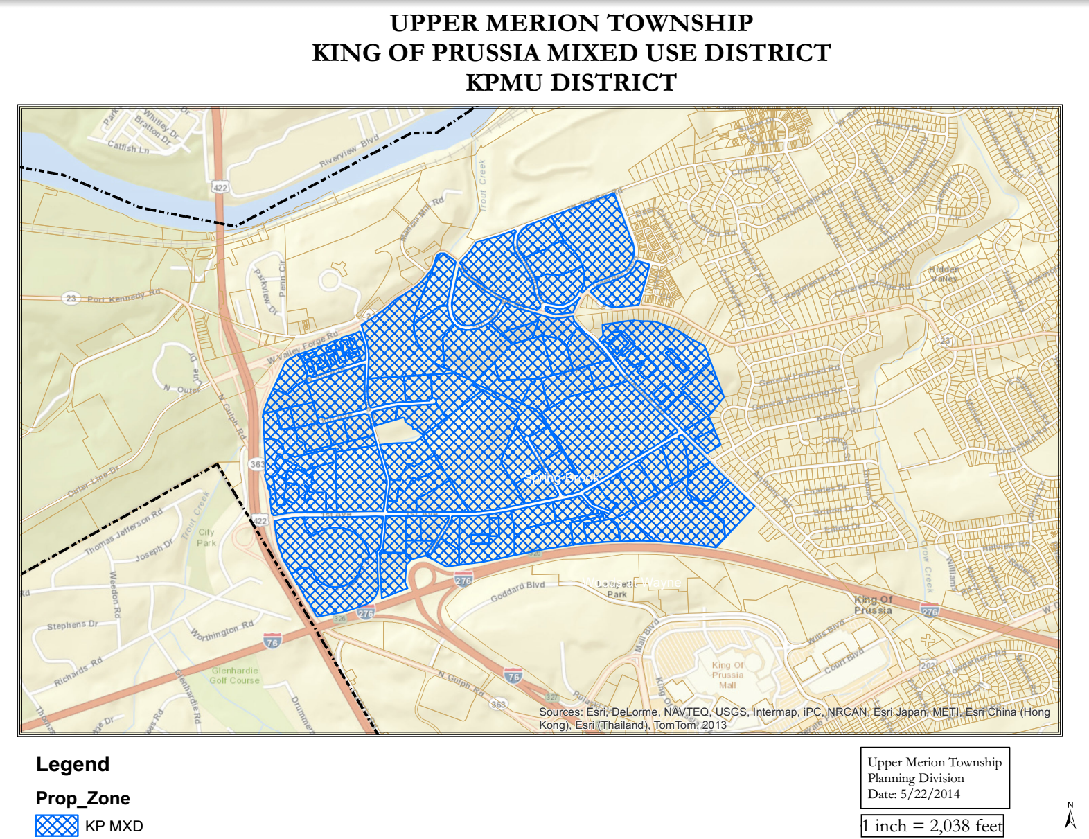 Upper Merion, King of Prussia mixed use district