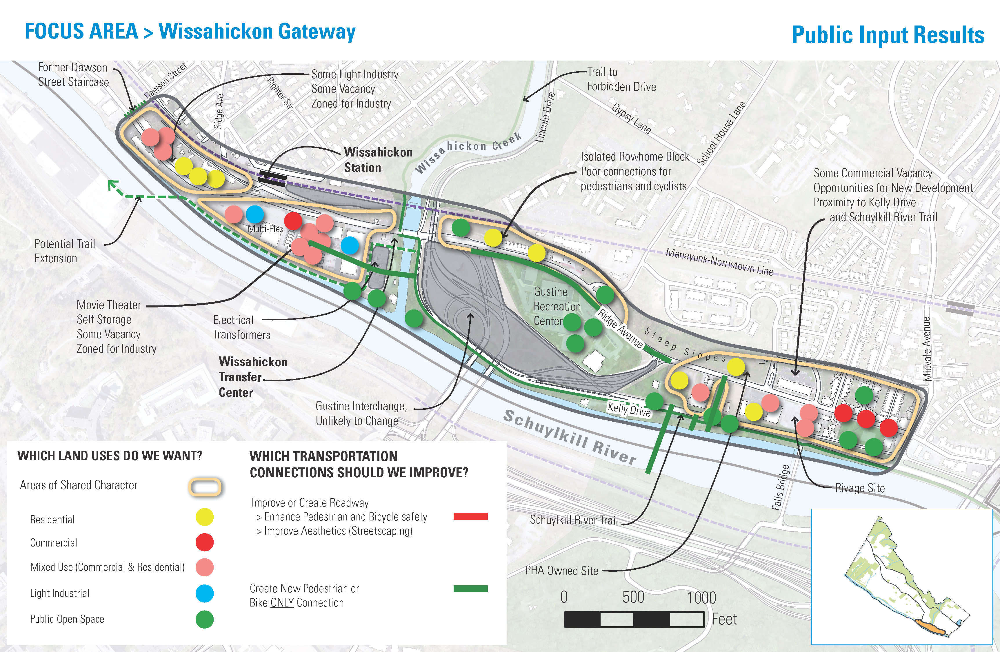 Visual summary of Lower Northwest input, Wissahickon Gateway