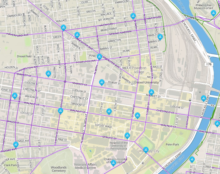 West Philly bike share Phase One