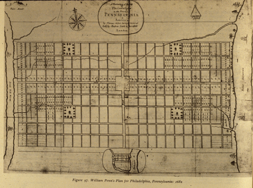 William Penn's 1682 Plan for Philadelphia